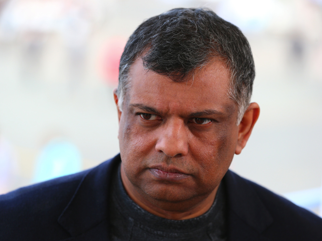 Tony Fernandes, group chief executive officer of AirAsia Bhd., pauses during a Bloomberg Television interview during the 51st International Paris Air Show in Paris, France, in 2015.