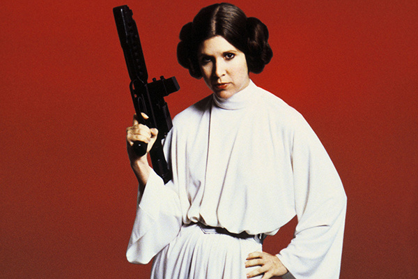 Carrie Fisher as Princess Leia Organa in