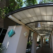 A view of the entrance to building 10 at