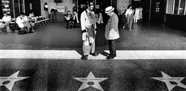 The Hollywood Walk of Fame itself!