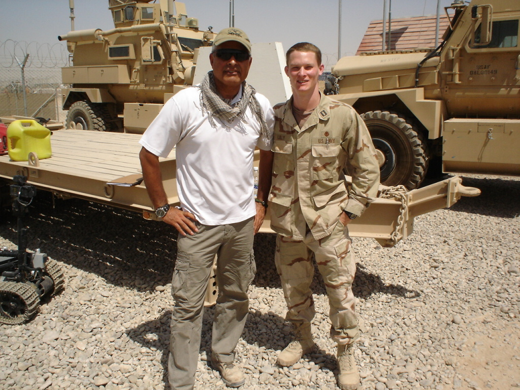 Navy veteran Sale Lilly (right) with his translator during a deployment to Helmand Province, Afghanistan in 2011.