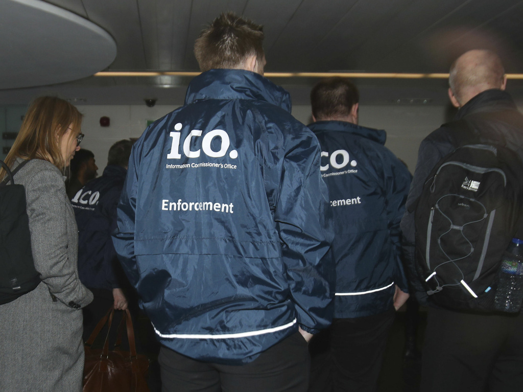 Officers from the Information Commissioner's Office enter the offices of Cambridge Analytica in central London. The investigators had a search warrant as part of what has been reported to be a broader investigation into possible ties between Cambridge Analytica and the campaign for the U.K. Brexit referendum.