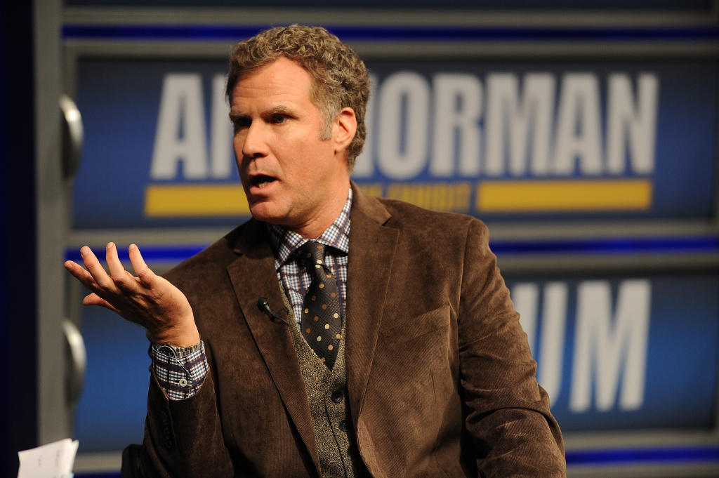 In this file photo, Will Ferrell speaks to a VIP Newseum audience at a special evening with the