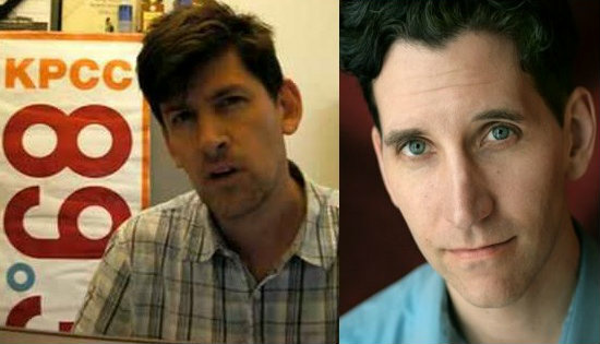 (L-R) The real John Rabe and the actor who plays him in