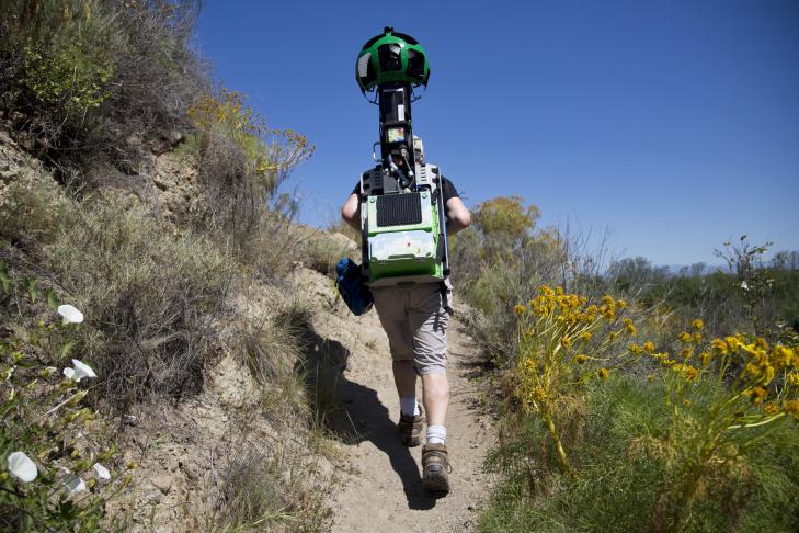 Kirk Klausmeyer hikes on Santa Cruz Island