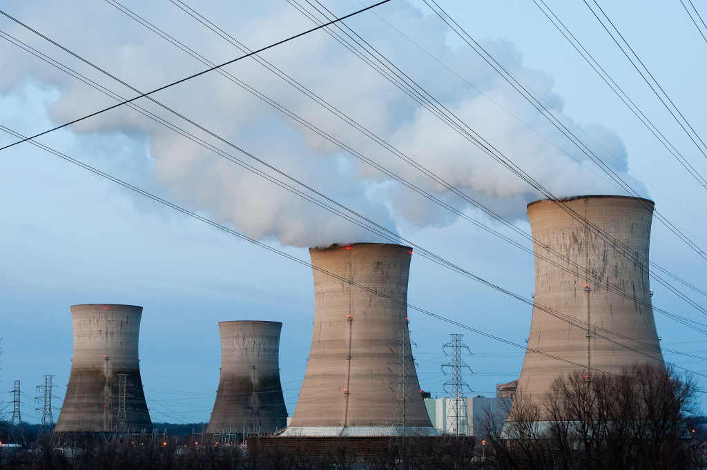 File photo: The Three Mile Island Nuclear Plant is seen in the early morning hours March 28, 2011 in Middletown, Pennsylvania. The Obama administration rolled out a plan Monday to cut carbon dioxide emissions from power plants by 30 percent by 2030.