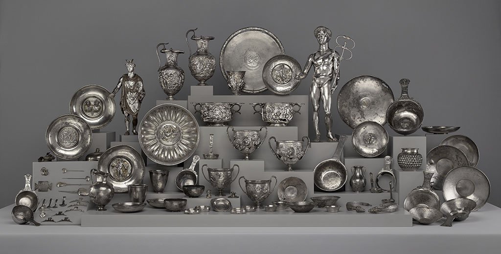 Imagine digging this up in your back yard? The Roman silver treasure dedicated to Mercury, found at Berthouville in 1830.