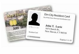 "The New Haven, Conn. ""ElmCity Resident Card,"" one of several municipal ID cards around the country"