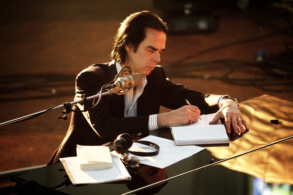 """Nick Cave during the """"Skeleton Tree"""" recording sessions."""