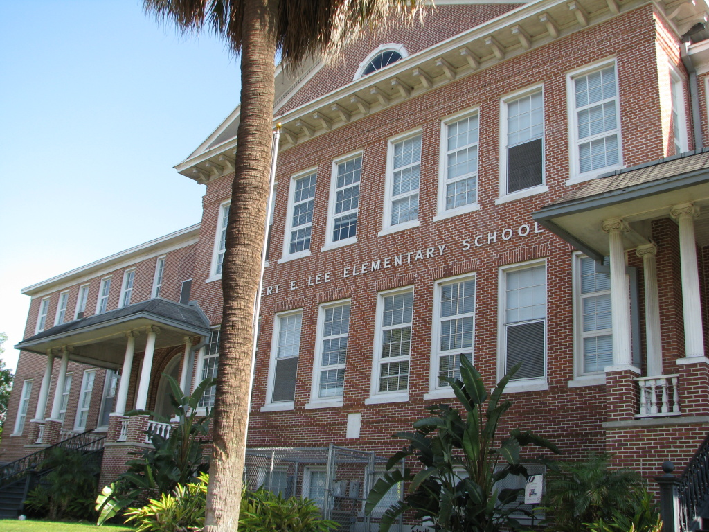 Following the Charleston Massacre schools with Confederate roots such as this one located in a predominately African American neighborhood in Tampa, Florida are coming under scrutiny.