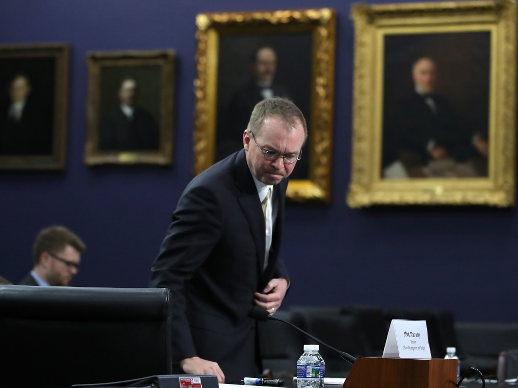 Mick Mulvaney, the acting head of the Consumer Financial Protection Bureau, seen at a House committee hearing earlier this year. Under Mulvaney, the bureau has scaled back its enforcement of rules against predatory lenders.