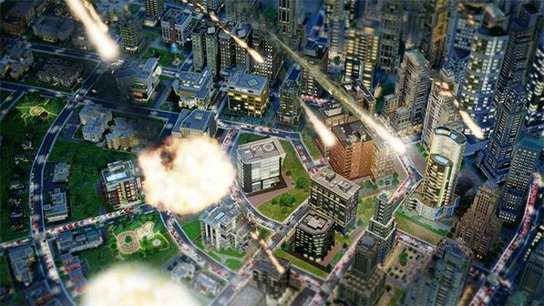 Screengrab of the new SimCity game.