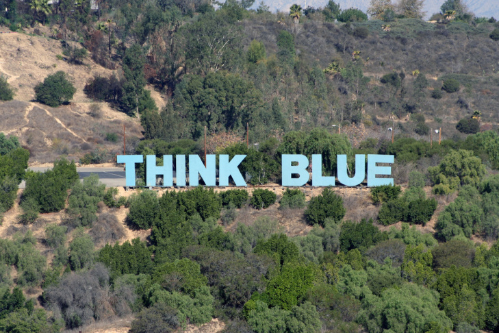 Thinking blue is giving some Dodgers fans the blues.