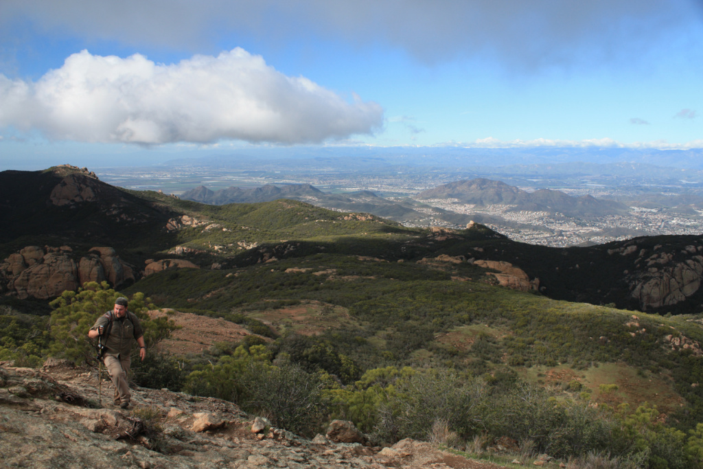 The view from the Sandstone Peak trail in the Santa Monica Mountains.