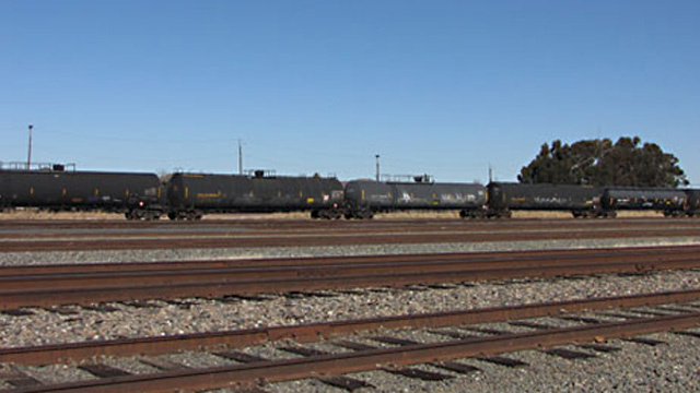 Tank cars on the tracks in Pittsburg.