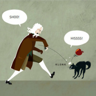 Classical mechanics, represented by Isaac Newton, typically doesn't play nicely with quantum mechanics, represented by Schrodinger's cat. But the 2013 Nobel laureates for chemistry figured out a way to get the two work together.