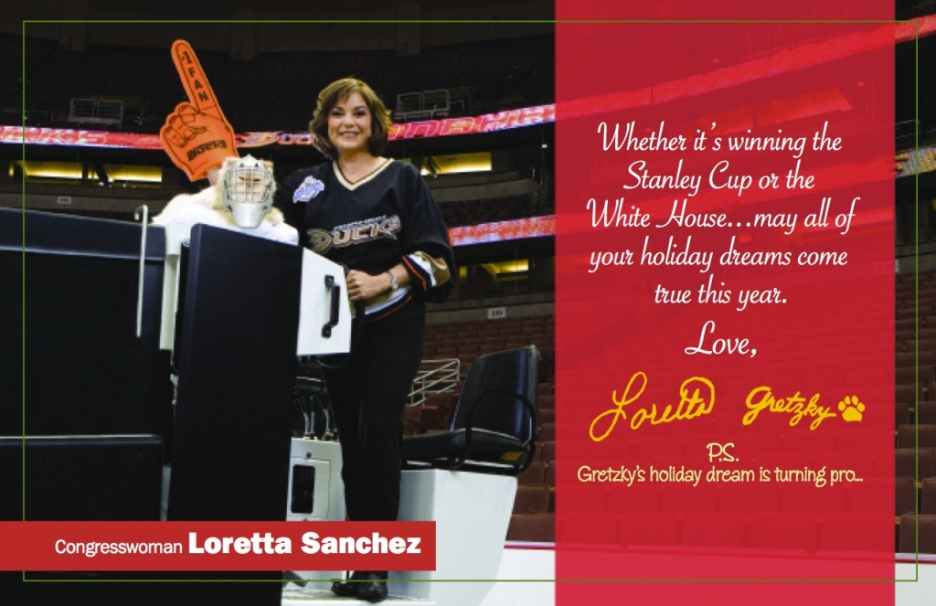 Slideshow: Loretta Sanchez goes to bat with her latest holiday card ...