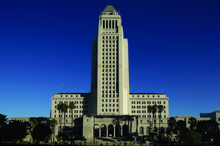 LA's City Hall building.