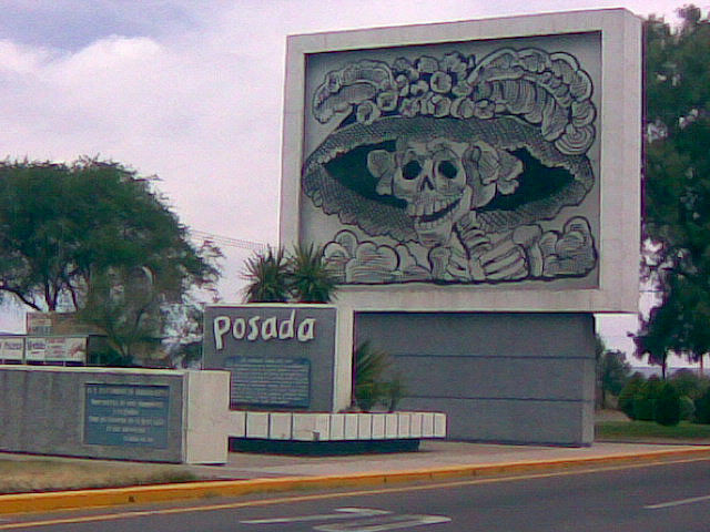 """""""La Catrina"""" as part of a monument to Posada in Aguascalientes, Mexico, May 2007"""
