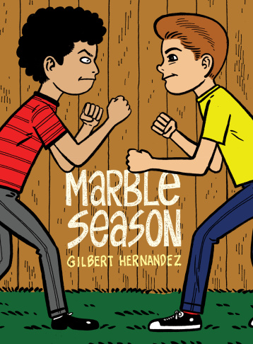 In Marble Season, Gilbert Hernandez follows 10-year-old Huey as he reads comics, plays marbles and interacts with the community around him.