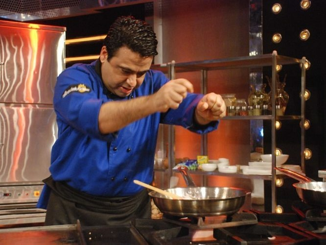 Chef Manish Mehrotra, an Indian contestant on Foodistan.