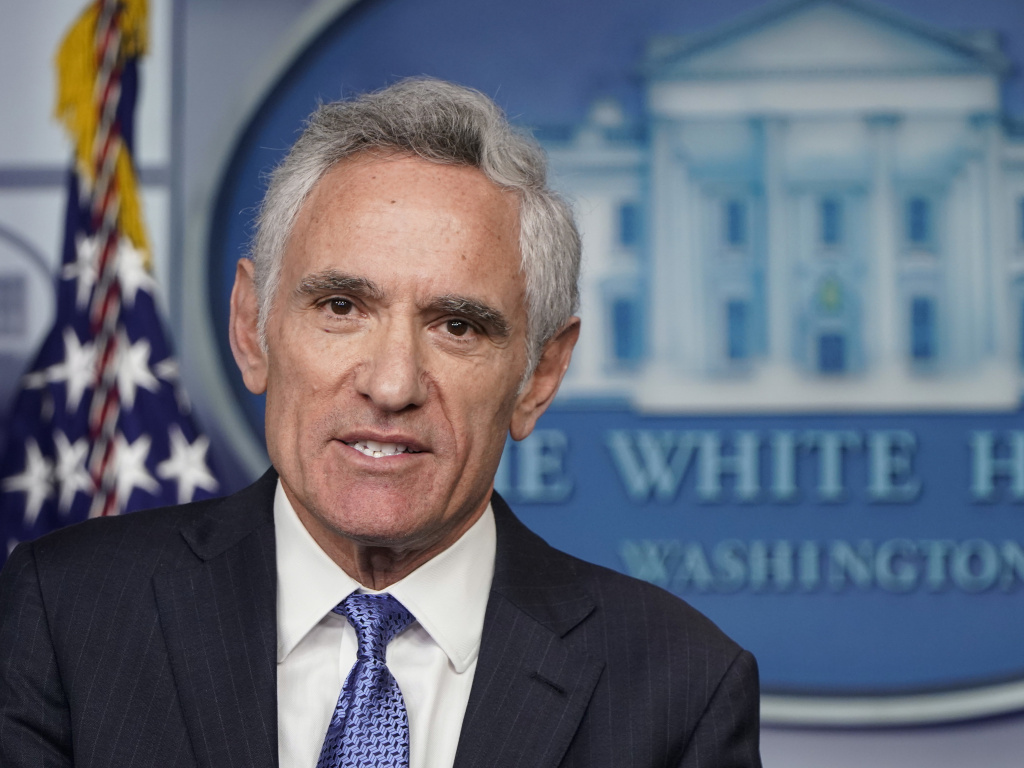 Dr. Scott Atlas, a member of the White House Coronavirus Task Force, speaks at a news conference in September in the briefing room of the White House.