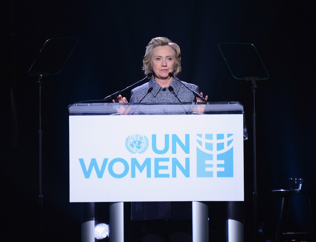 Hillary Clinton attends the Step It Up For Gender Equality event celebrating the 20th anniversary of the fourth World Conference On Women in Beijing at Hammerstein Ballroom on March 10, 2015 in New York City. Clinton has come under fire after it was revealed she had used her personal email account almost exclusively during her tenure as U.S. secretary of state.