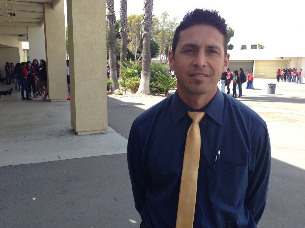 South Junior High Principal Carlos Hernandez is hopeful that the new Common Core standards will raise Latino student achievement.