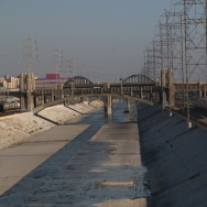 LA River concrete