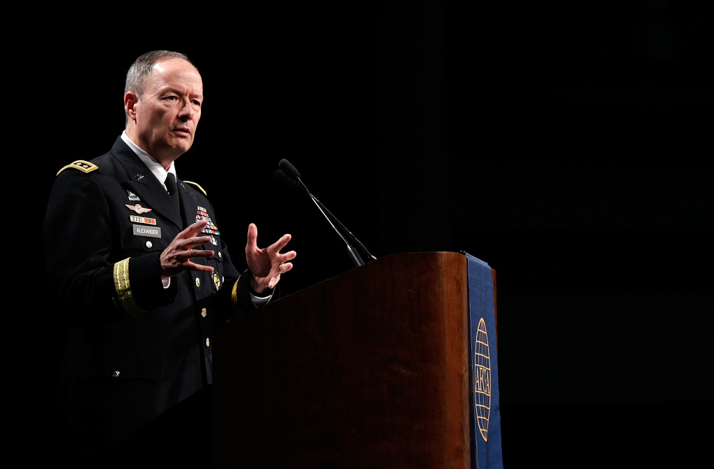 Army Gen. Keith Alexander, commander of U.S. Cyber Command, director of the National Security Agency and chief of the Central Security Service, speaks at the Armed Forces Communications and Electronics Association's International Cyber Symposium June 27, 2013 in Baltimore, Maryland. Alexander addressed recent developments in the NSA's surveillance programs during his remarks.