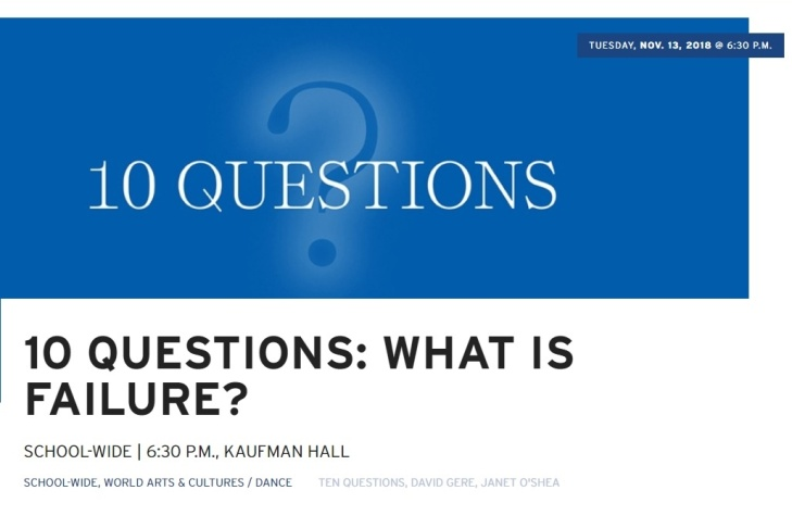 UCLA School of the Arts and Architecture - 10 Questions: What is Failure?