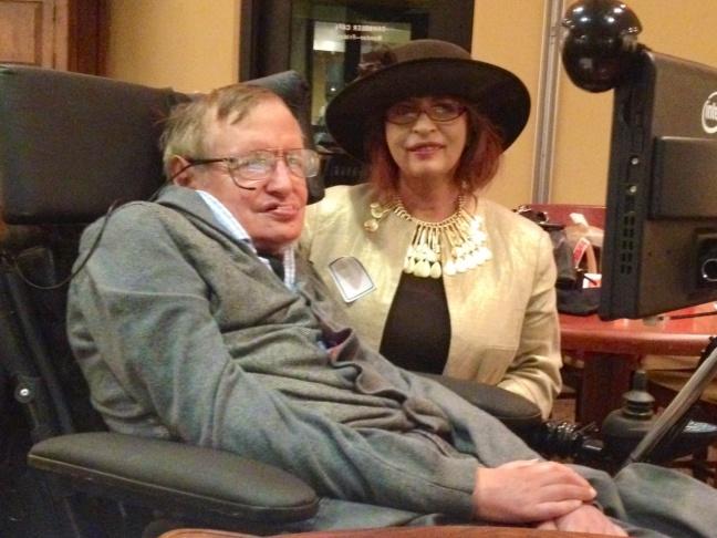 Stephen Hawking and Patt Morrison.