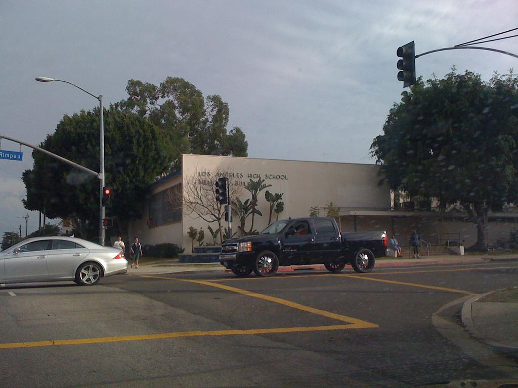 Los Angeles High School at Olympic & Rimpau.