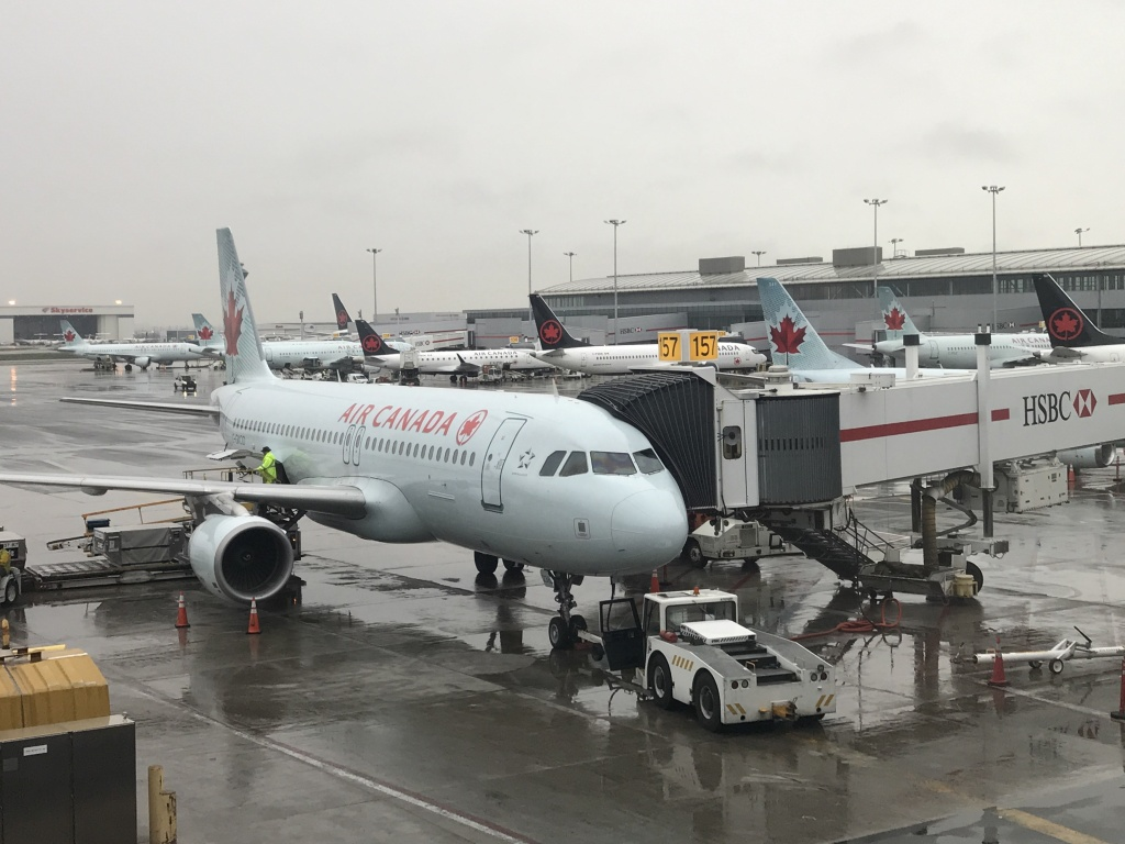 Air Canada jet at Toronto Pearson International Airport in Toronto, Canada.