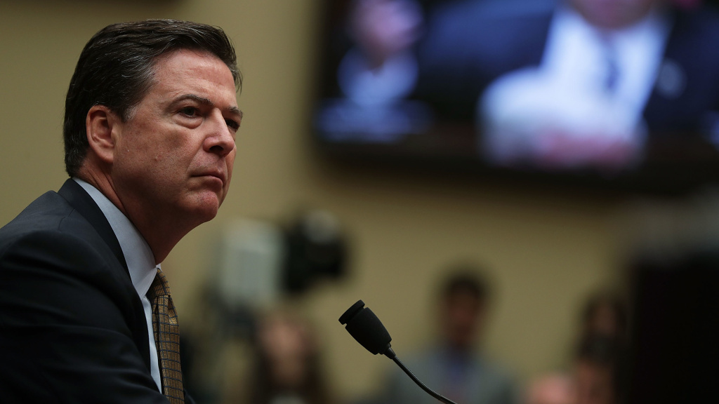 James Comey testifies during a hearing before House Oversight and Government Reform Committee in Capitol Hill in Washington, D.C.