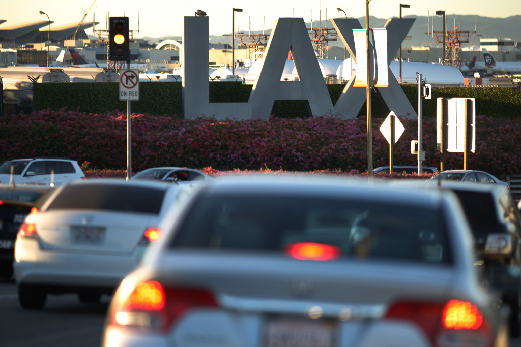 FILE: Traffic approaches LAX as people traveled to Thanksgiving holiday destinations last year.