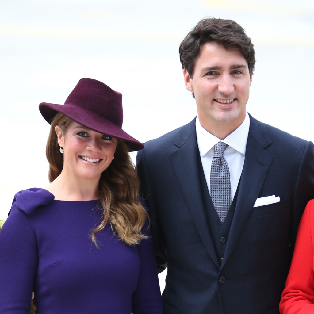 Canadian Prime Minister Justin Trudeau and his wife Sophie Grégoire Trudeau at the Victoria Airport in 2016. Grégoire Trudeau has tested positive for the novel coronavirus, the prime minister's office said Thursday.