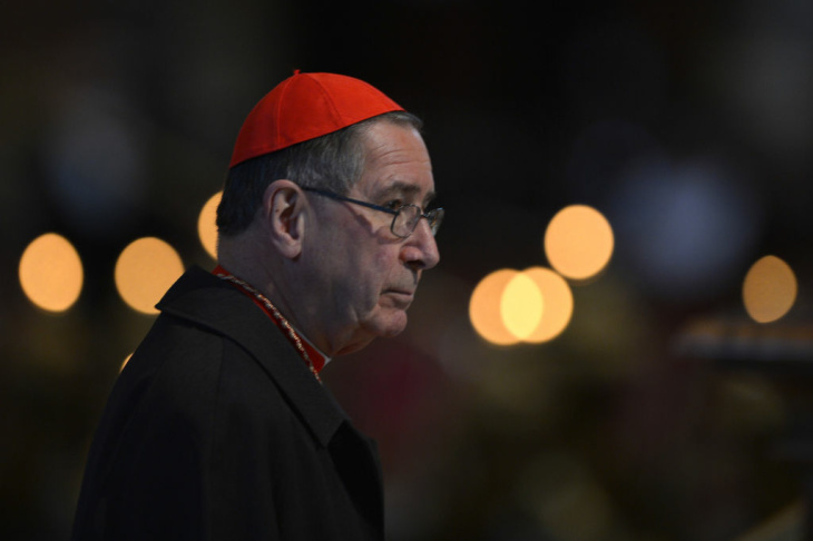 File: Cardinal Roger Michael Mahony arrives to attend a mass at St Peter's basilica on March 12, 2013 at the Vatican.