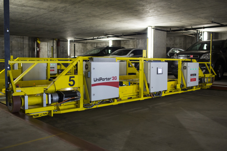 The City of West Hollywood's automated parking garage opens on Tuesday, May 24, 2016 at City Hall. The garage is the first municipal project of its kind on the West Coast.
