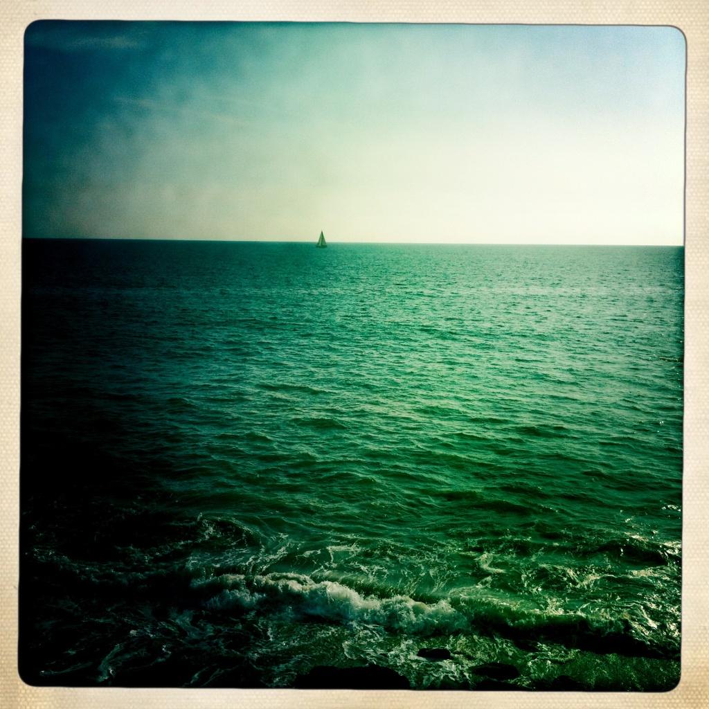 Off-Ramp's 50-foot yacht, Kronkite of the Seas, off Malibu.