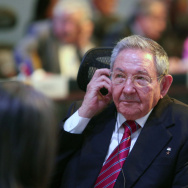 Cuba's President Raul Castro listens during the summit of the Community of Latin American and Caribbean States in San Antonio de Belen, Costa Rica, on Wednesday.