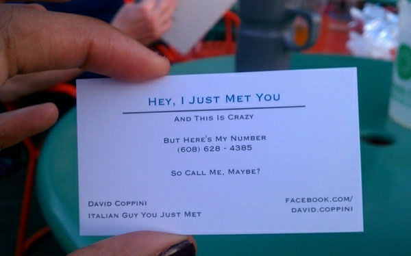 Have you received this business card?