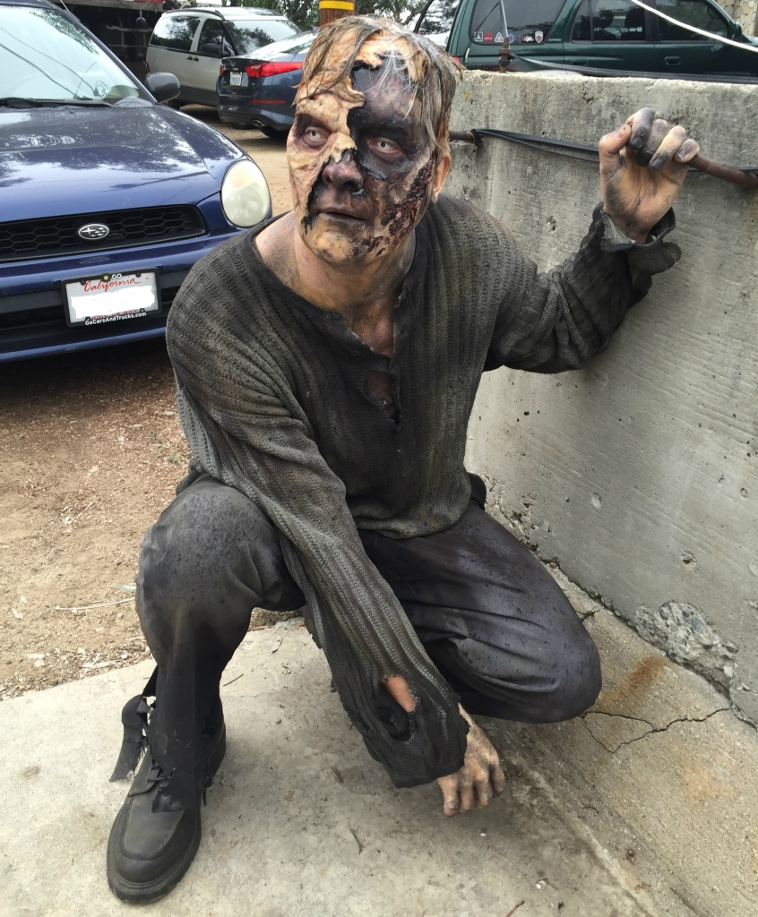 Off-Ramp contributor Collin Friesen as a zombie extra for an unnamed production.