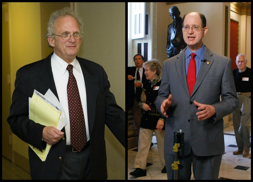 Reps. Howard Berman, left, and Brad Sherman, right, will face each other in Tuesday's primary as a result of redistricting.