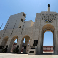The Los Angeles Coliseum, venue for the 1932 and 1984 Olympic Games.