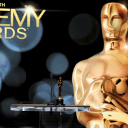 The backdrop of the stage with the Oscar Award is seen onstage during the 84th Academy Awards announcement held at the Academy of Motion Picture Arts and Sciences Samuel Goldwyn Theater on Jan. 24, 2012 in Los Angeles.