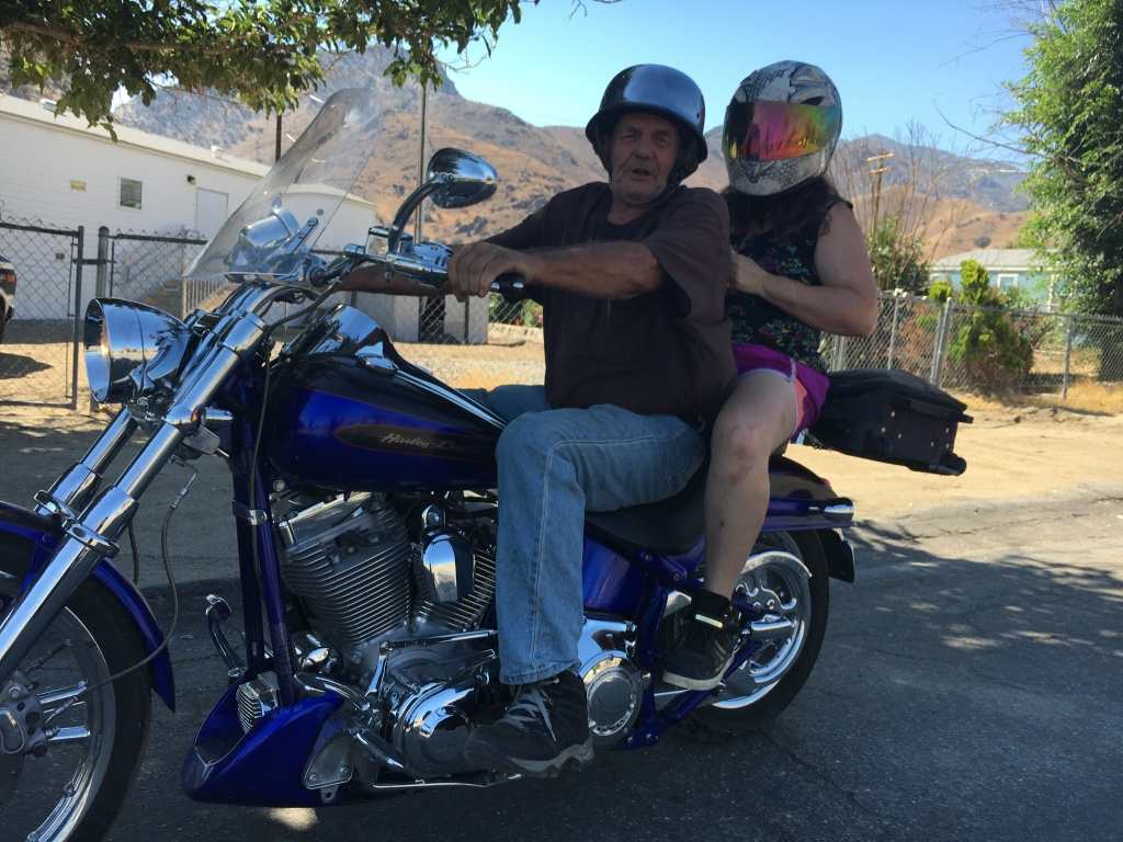 Kenny and Teresa Randazzo ride away from the manufactured house provided by FEMA and the state Office of Emergency Services after their uninsured mobile home was burned in the June 2016 Erskine Fire.