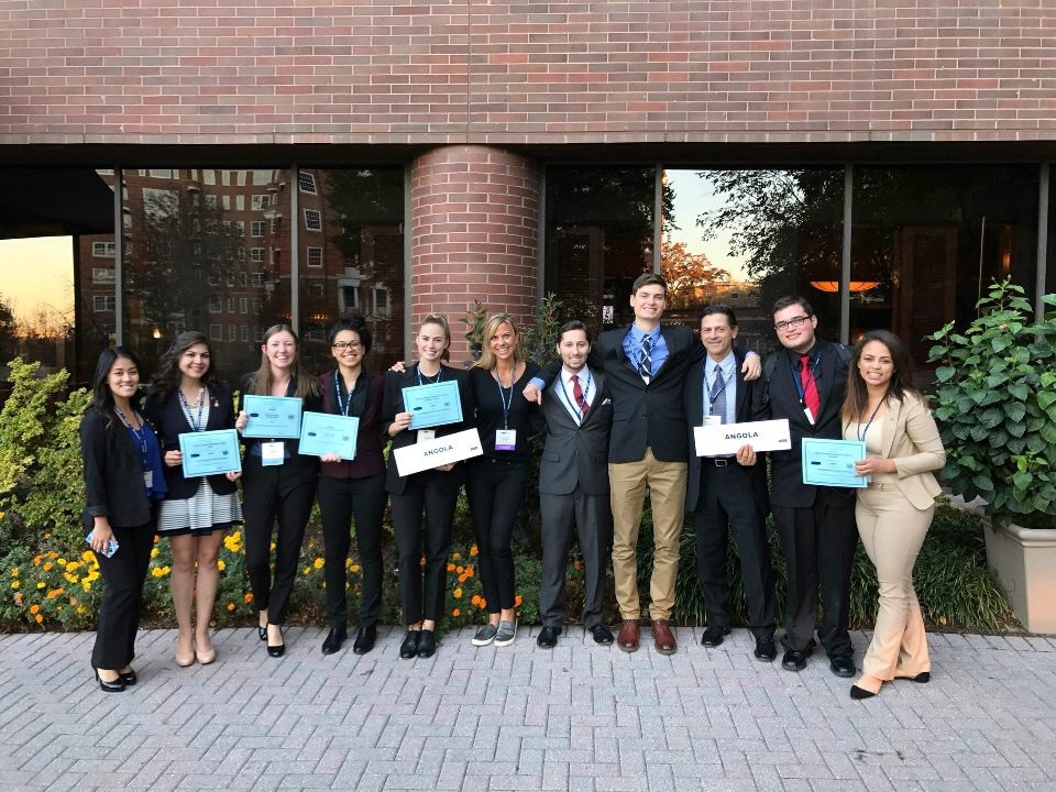 Cal State Northridge's championship winning Model United Nations team. This is their fourth consecutive year winning top honors.
