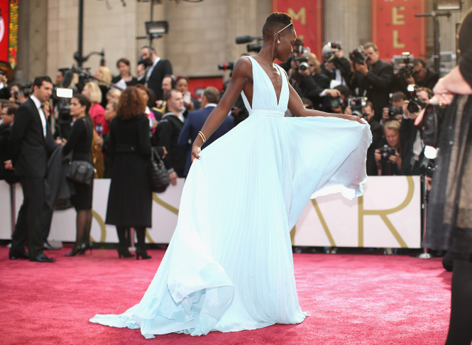 Actress Lupita Nyong'o attends the Oscars held at Hollywood & Highland Center on March 2, 2014 in Hollywood.