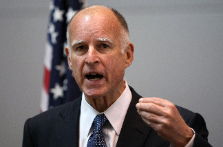 California attorney general Jerry Brown speaks during a press conference where he announced a lawsuit he filed against Wells Fargo affiliates April 23, 2009 in San Francisco, California.